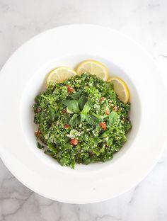herb salad with quinoa & mint