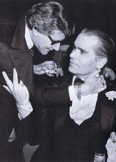 Karl Lagerfeld, Yves Saint Laurent