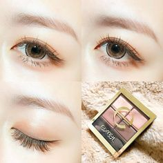 Emily I like the idea of using this kind of eye look with just a nude eyeshadow and brown eyeliner mixed with the look of rouge from the Korean Makeup Look, Asian Eye Makeup, Asian Makeup Tutorials, Makeup Tips, Hair Makeup, Japanese Makeup, Asian Eyes, Eye Make Up, Beauty Make Up