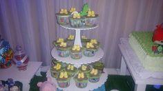 Cupcakes con las botas de peppa pig
