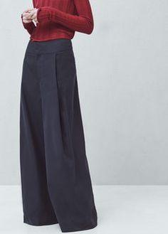 PREMIUM - Pantalon lin coton évasé