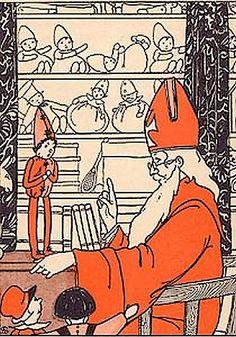 De Wonderlijke Avonturen van Pieterman, door Greta Vollewens - Zeijlemaker, (1898-?), met gekleurde platen van Sijtje Aafjes, (1893-1972). Uitgever G. B. van Goor Zonen - Gouda, 1928