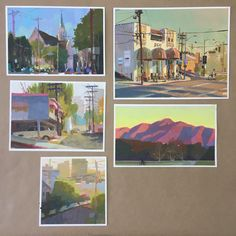 "Showing a mix of old and new pleinair paintings for the ""painting the town"" show at @gallerynucleus end of this month."