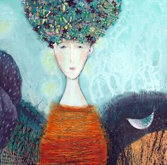 Flower Head Waiting in the Valley - Shirley Vauvelle