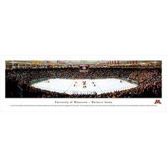 Blakeway Worldwide Panoramas Mariucci Arena on the University of Minnesota Hockey Framed Print