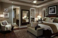46 Modern And Romantic Master Bedroom Design Ideas. If you are tired of your master bedroom, you can incorporate a few changes that make a big difference. Master Bedroom Interior, Dream Bedroom, Home Decor Bedroom, Master Bedrooms, Diy Bedroom, Bedroom Colors, Modern Bedroom, Girls Bedroom, Brown Master Bedroom