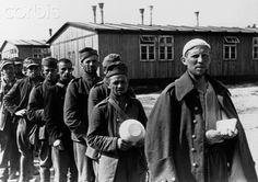 World War I Prisoners Standing in Line - IH134427 - Rights Managed - Stock Photo - Corbis