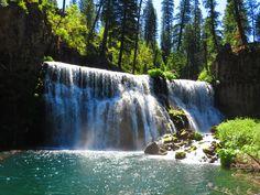 McCloud Falls ~ Middle Falls, McCloud, CA.