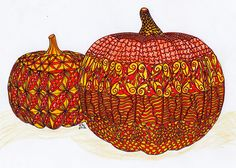 Ornation Creation - Pumpkins - Colored | Flickr - Photo Sharing!