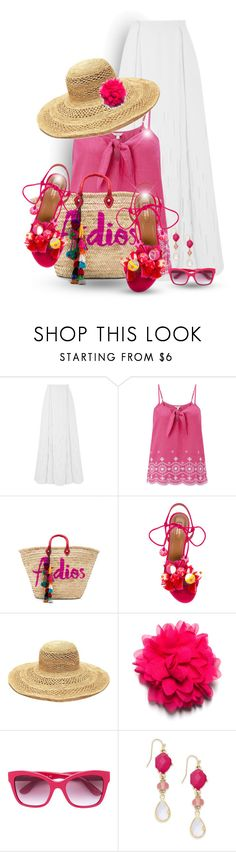 """""""Pink mood"""" by elona-makavelli ❤ liked on Polyvore featuring Amanda Wakeley, Monsoon, MISA Los Angeles, Aquazzura, Mar y Sol and INC International Concepts"""