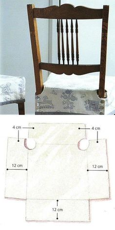 """chair cover sewing """"creating slip cover for dining chairs"""" Sewing Crafts, Sewing Projects, Diy Projects, Diy Crafts, Fabric Crafts, Furniture Covers, Diy Furniture, Furniture Upholstery, Seat Covers For Chairs"""