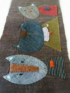 Boro, Japanese Bag, Applique Tutorial, All About Cats, Origami, Quilted Bag, Free Motion Quilting, Applique Quilts, Handicraft