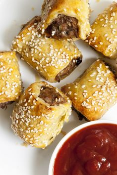 A classic canapé or picnic snack, this homemade sausage rolls recipe is a real crowd pleaser. Use shop-bought puff pastry or make your own – they're delicious either way! Wondering how to make sausage rolls? Look no further – our homemade sausage rolls recipe is the one to beat. Deliciously easy, flaky and light. Better yet, double up the ingredients and save some in the freezer for later! You'll be the pick of the picnic with this recipe. Homemade Sausage Rolls, Picnic Snacks, How To Make Sausage, Rolls Recipe, Pretzel Bites, Freezer, Crowd, Make It Yourself, Classic