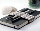 Journal Bandolier / Black Type / alt pencil case. $17.95, via Etsy.