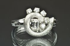 .50 Carat Vintage Diamond Ring 14K White Gold, $999.