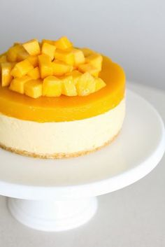 Mango Cheesecake for Christmas - Green Cilantro ---- No bake (uses gelatin) & measurements are all metric