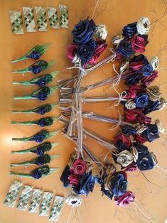 Flax Weaving - Wedding arrangement with buttonholes, by AllFlax Flax Weaving, Weaving Art, Basket Weaving, Flower Corsage, Flower Bouquet Wedding, Wedding Arrangements, Flower Arrangements, Wedding Decorations On A Budget, Wedding Ideas