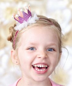 Whitney Elizabeth Pink Glitter Crown Headband | zulily
