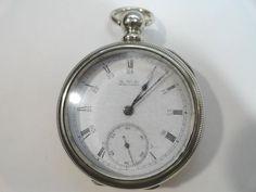 Antique 1889 Waltham Broadway Key Wind Key Set 7 Jewel Pocket Watch 18 Size by KayesVintageJewelry on Etsy