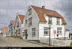 Beautiful old wooden houses in Old Stavanger, the historic centre of Stavanger European Capital of...