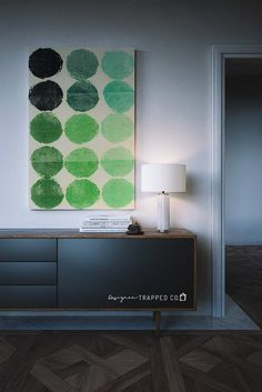This stunning print of colorful green abstract circles is the perfect contemporary wall art and is so affordable! Looks great in both horizontal and vertical frames. Download it and print it at home or at a print shop of your choosing.