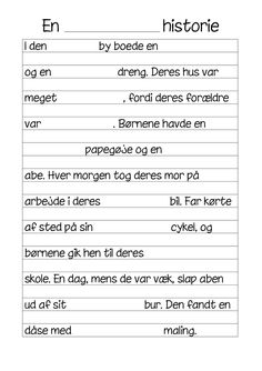 Historie-skrivning på klassen Cooperative Learning, Happy Boy, 5th Grades, Grade 1, Cool Kids, Language, Classroom, Teaching, Writing