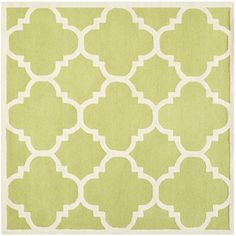 Safavieh Handmade Moroccan Cambridge Green/ Ivory Wool Rug (8' Square) | $308
