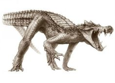 15 NOPE Creatures We're All Glad Are Extinct - brainjet.com Just look at this guy. It's like a crocodile. But it has LEGS. And can Run!