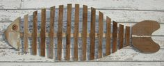 wood fish art | Large FISH SKELETON Reclaimed Wood Wall Art Free Shipping this Weekend ...