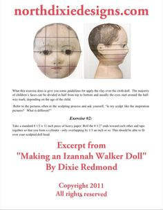 Northdixie Designs: Sculpting Tips in My Izannah Walker Doll Pattern