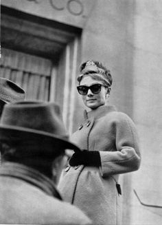 Audrey Hepburn on the set of Breakfast At Tiffany's, 1961.
