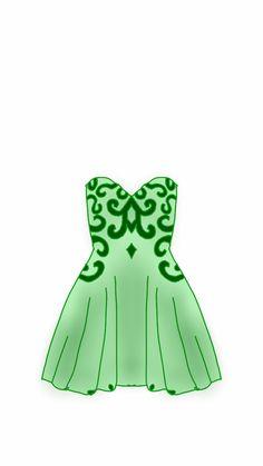 Dress green lace