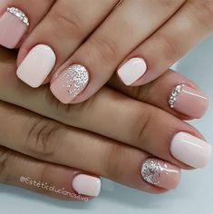 hottest nail designs, best nail art designs, short nails in 2020 Cute Gel Nails, Short Gel Nails, Hot Nails, Cute Acrylic Nails, Pink Nails, Pretty Nails, Short Nails Art, Hot Nail Designs, Acrylic Nail Designs