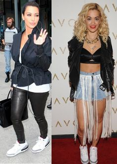 Kim & Rita with Air Jordan Retro 3 sneakers.