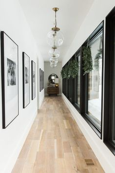 Inspirational ideas about Interior Interior Design and Home Decorating Style for Living Room Bedroom Kitchen and the entire home. Curated selection of home decor products. Modern Bedroom Design, Decor Interior Design, Design Scandinavian, Hallway Inspiration, Hallway Ideas, Modern Hallway, Long Hallway, Hallway Ceiling, Wainscoting Hallway