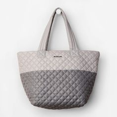 MZ Wallace Metro Tote Medium Dual Gray MZ Wallace dual gray tones medium tote bag. Comes with matching pouch. NWOT MZ Wallace Bags Totes