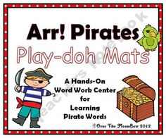 Arr! Pirates Play-doh Mats