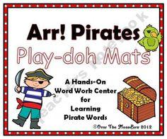 Arr! Pirates Play-doh Mats