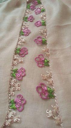 Needle lace small writing edge Handcrafted H Crochet Motifs, Crochet Stitches, Crochet Trim, Crochet Patterns, Quilt Patterns, Needle Tatting, Tatting Lace, Needle Lace, Phulkari Embroidery