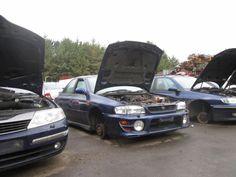 Subaru impreza W96 UWC. (RUSTDREAMER.) Tags: sport cornwall subaru scrapyard wreck scrap impreza awd orchards rustdreamer