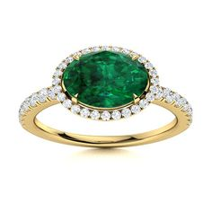 His solitaire oval shaped gemstone Emerald ring in 14k Yellow Gold you will forever feel like The Queen. Lucie can be customised by choosing the perfect gemstone. This stunning design will make your memorable day even more special, we promise! Natural Emerald Rings, Love Ring, Halo Rings, Halo Diamond, Shades Of Green, Vintage Rings, Ring Designs, Gemstone Rings, White Gold