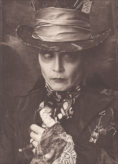 Johnny Depp as the Mad Hatter from Tim Burton's version. This movie could've been better