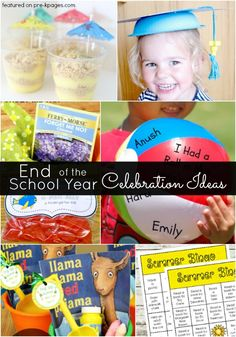 End of the School Year Activities. Need some fun ideas to celebrate the end of the school year in your preschool or kindergarten classroom? Check out these snack and treat ideas, gifts, keepsakes, and printables! - Pre-K Pages