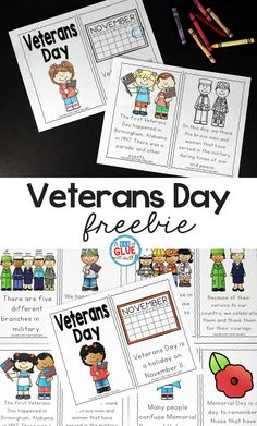 Veterans Day Freebie posted by Jennifer-This Veterans Day Emergent Reader will be the perfect addition to your lesson plans. This is perfect for pre-k, kindergarten, and first grade students. Remembrance Day Activities, Veterans Day Activities, Holiday Activities, Classroom Activities, Classroom Ideas, Speech Activities, Kindergarten Classroom, Classroom Organization, Kindergarten Social Studies
