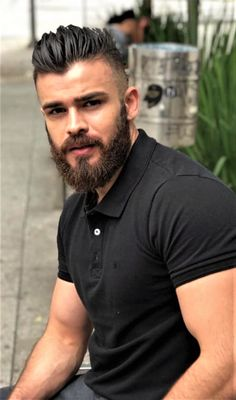 Tips And Tricks – Curly Hairstyles For Men Beard Styles For Men, Hair And Beard Styles, Curly Hair Styles, Mens Hairstyle Images, Professional Beard, Short Beard, Sexy Beard, Moustache, Beard Growth Oil