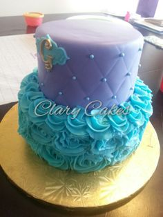 Sam S Club Ruffled Purple Ombre  Tier Cake