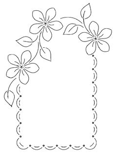 Beautiful embroidery for table place setting - Beautiful embroidery for table place setting - Floral Embroidery Patterns, Hand Embroidery Designs, Flower Patterns, Embroidery Stitches, Page Borders Design, Parchment Craft, Borders For Paper, Floral Border, Craft Patterns