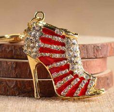 Rhinestone High Heel Fashionista Key Chain