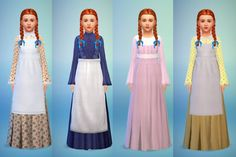 Budgie2budgie: Dress set Charlotte • Sims 4 Downloads