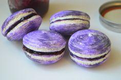 almond galaxy macarons